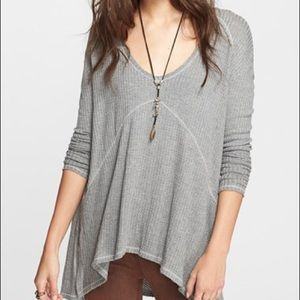 Gray Free People Long-Sleeve Sunset Park Thermal